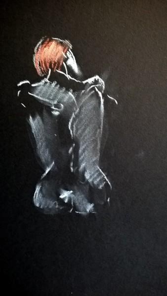 Peinture, pastel, figuratif, œuvre d'art par Alain Fortier